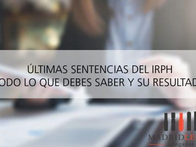 Últimas sentencias de IRPH